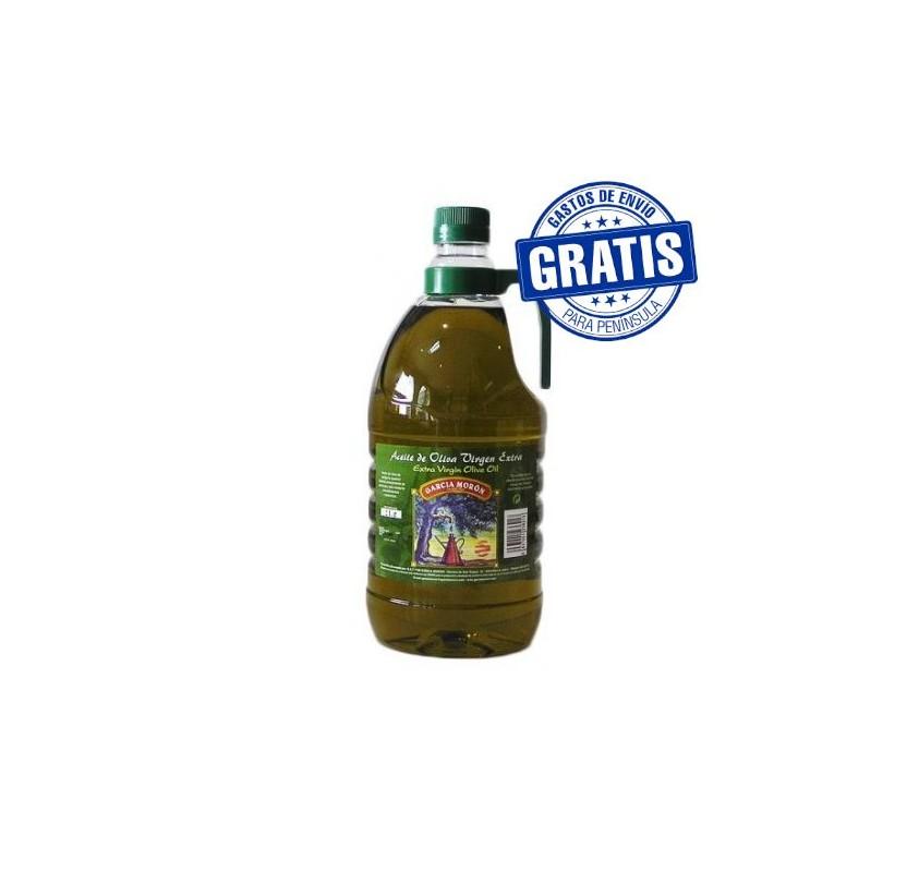 García Morón. Aceite de oliva Picual. 6 Garrafas de 2 Litros.