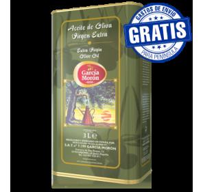 García Morón. Aceite de oliva Picual. 6 latas de 3 litros