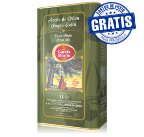 Garcia Moron. Picual Olive oil. 6 tins of 3 liters