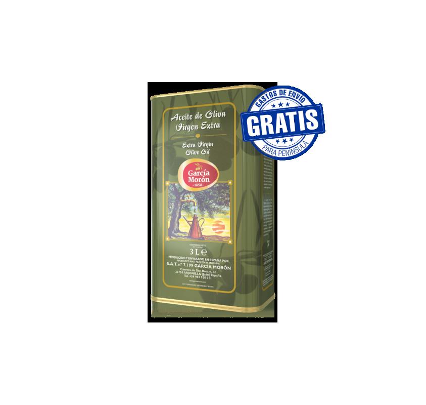 Garcia Moron. Picual Olive oil. 6 tins of 3 liters