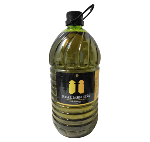 Real Mentesa. Extra virgin olive oil. 5 liter PET carafe.
