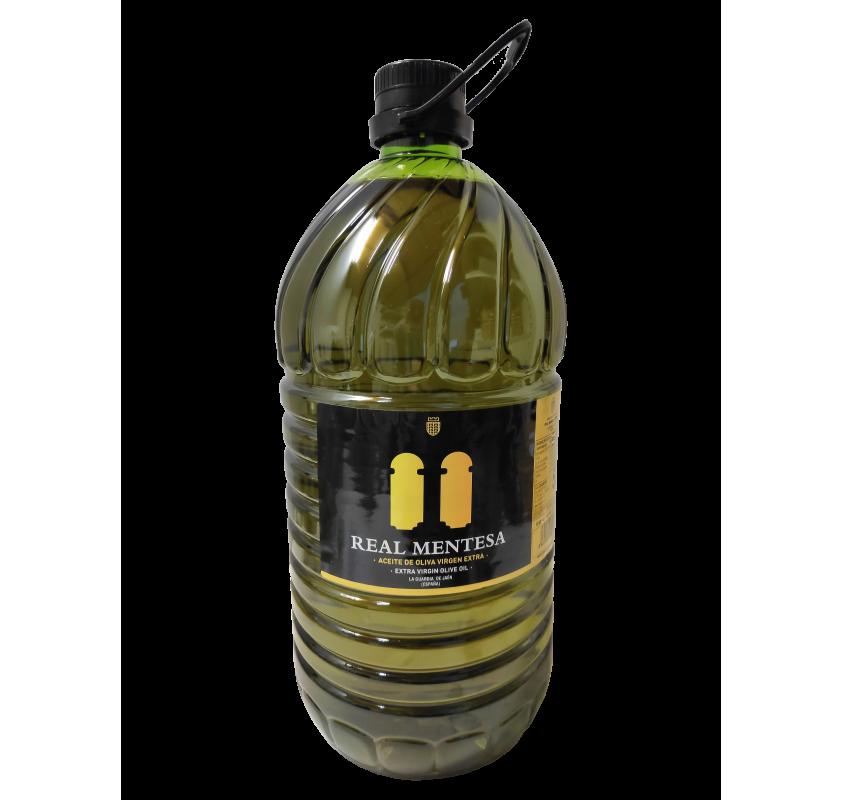 Real Mentesa. Extra virgin olive oil. 5 liter PET carafe.