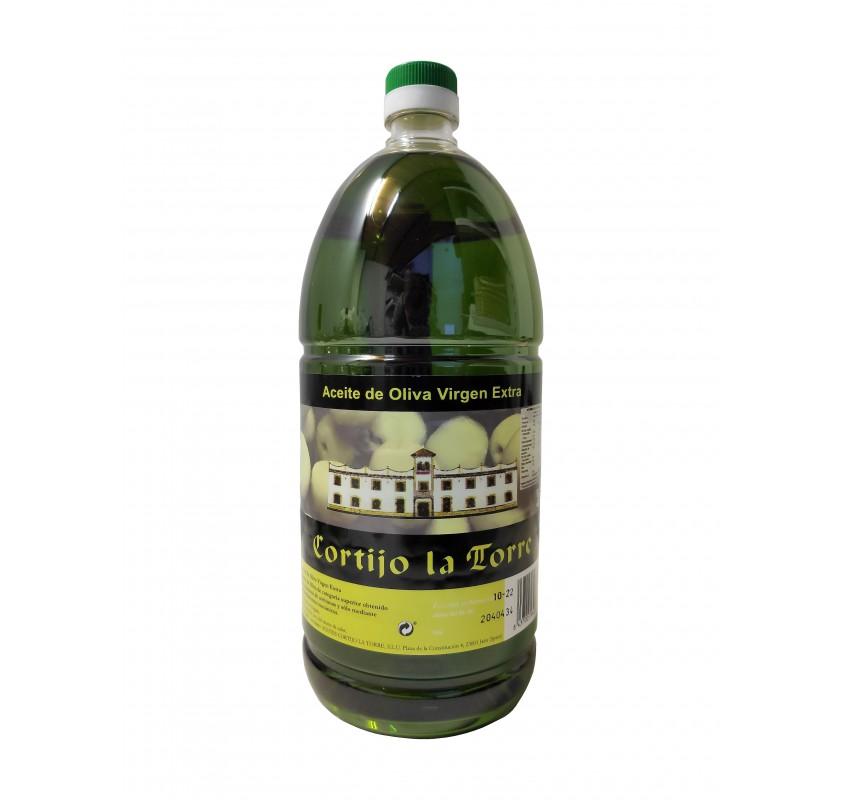Aceite de oliva virgen extra picual Cortijo la Torre. 2 litros