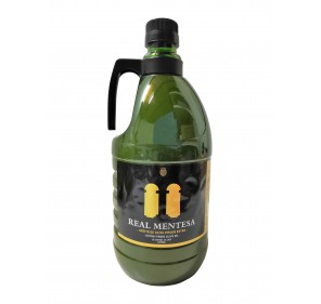 Real Mentesa. Extra virgin olive oil. 2 liter PET carafe.