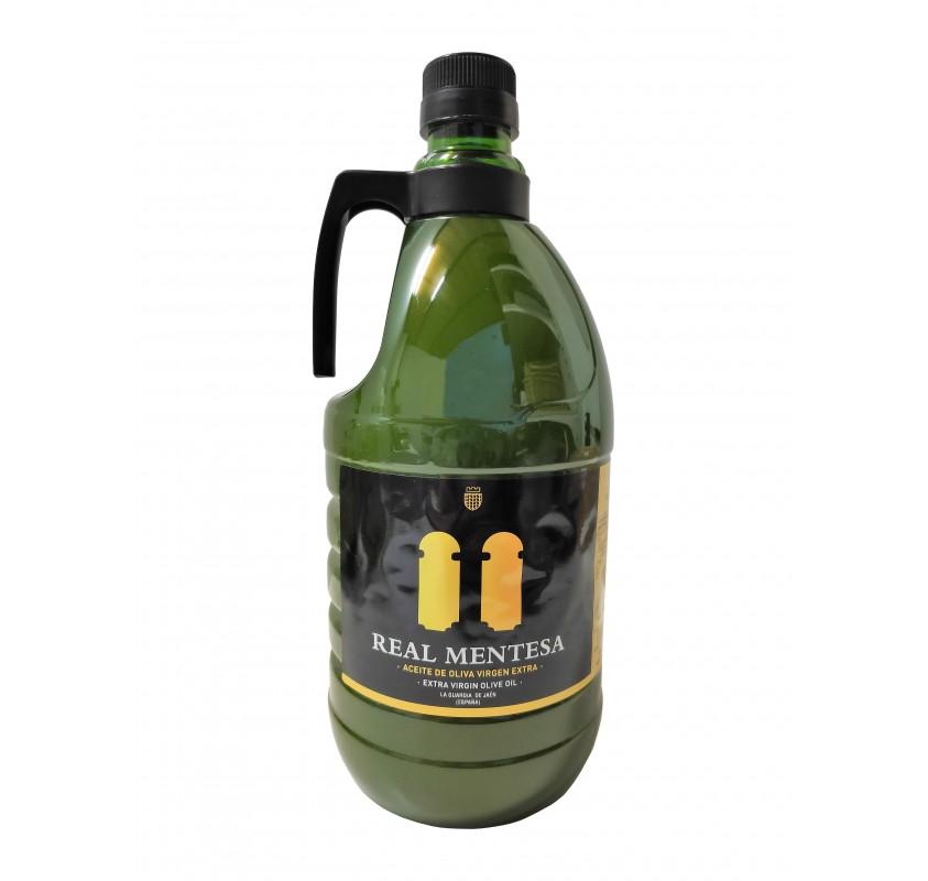 Real Mentesa. Extra virgin olive oil. 2 liter PET carafe.