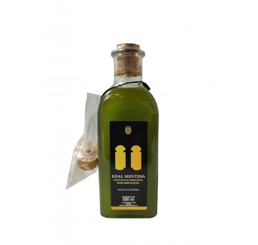 Real Mentesa. Aceite de oliva virgen extra. Frasca 500 ml.