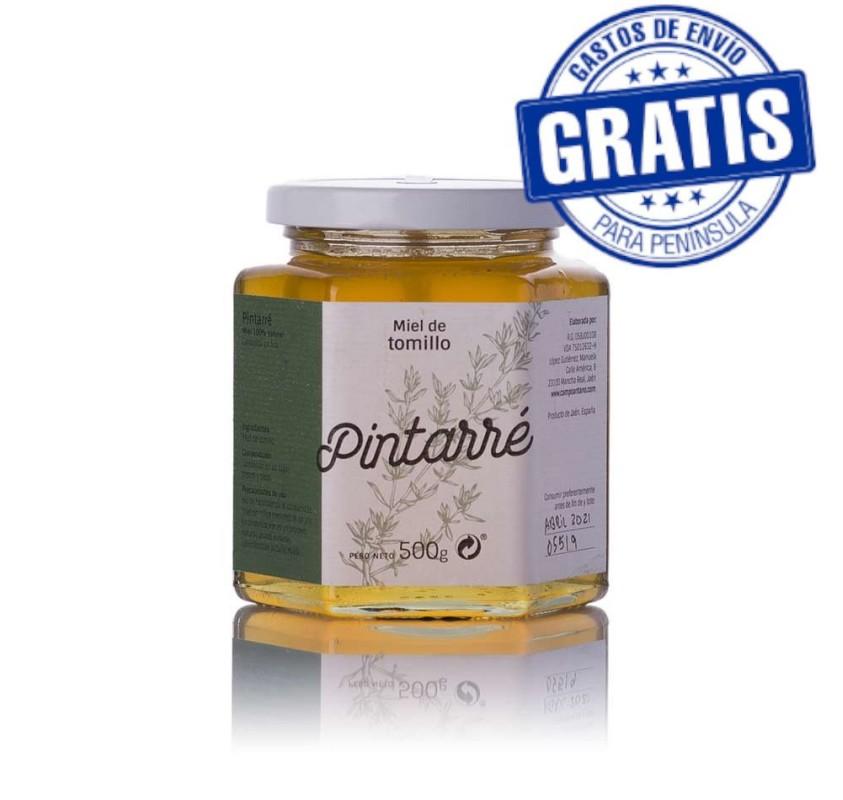 Pintarré. Organic Thyme Honey. Box of 12 x 500 gr.