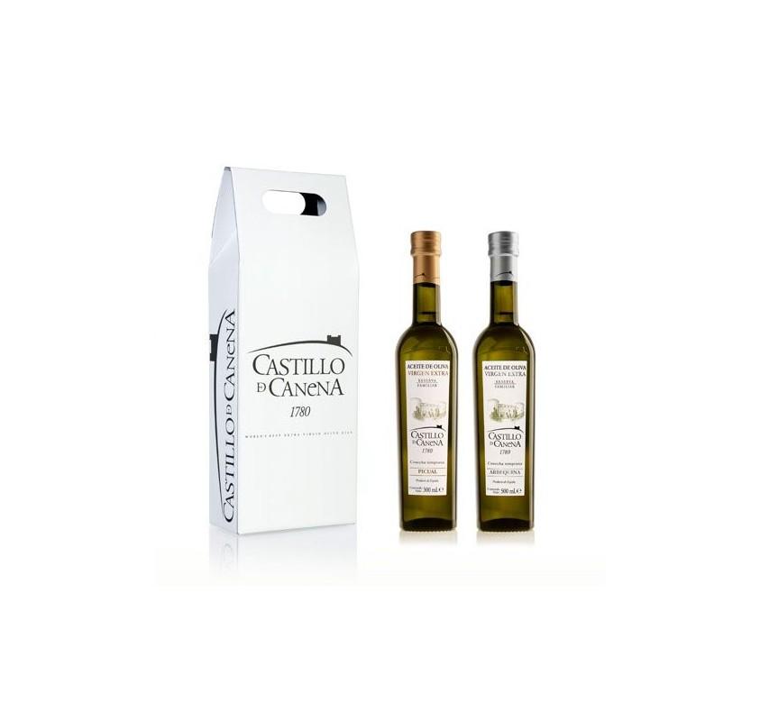 Extra virgin olive oil, Castillo de Canena. Family reserve. Cardboard box.