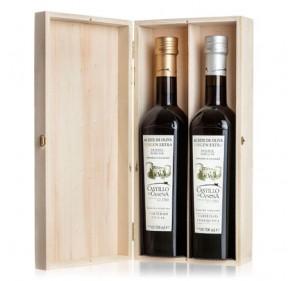 Extra virgin olive oil, Castillo de Canena. Family reserve. Pinewood box.