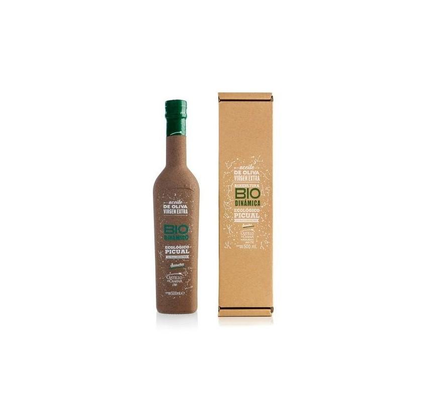 Extra virgin olive oil Castillo de Canena. Box Picual biodynamic.. 500 ml.