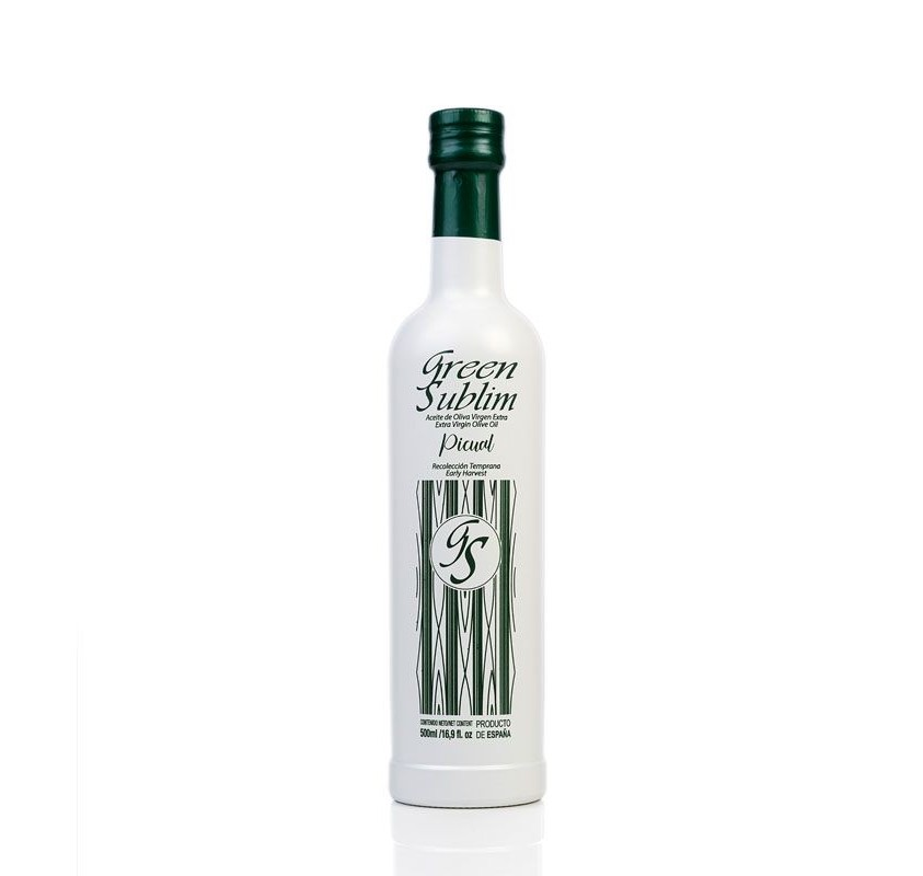 EVOO Picual Green Sublime. Box of 3 bottles of 500 ml.
