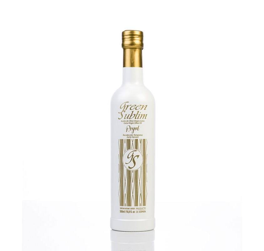 EVOO Royal Green Sublim. Box of 3 bottles of 500 ml.