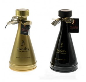 EVOO Picual Tuccioliva. Olivia Gold and Black Case of 500 ml.