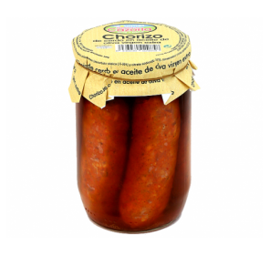 Serrano sausage in extra virgin olive oil. 8 x 530 gr.