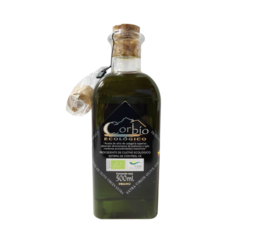 Ecological Corbio EVOO. 500 ml bottle.