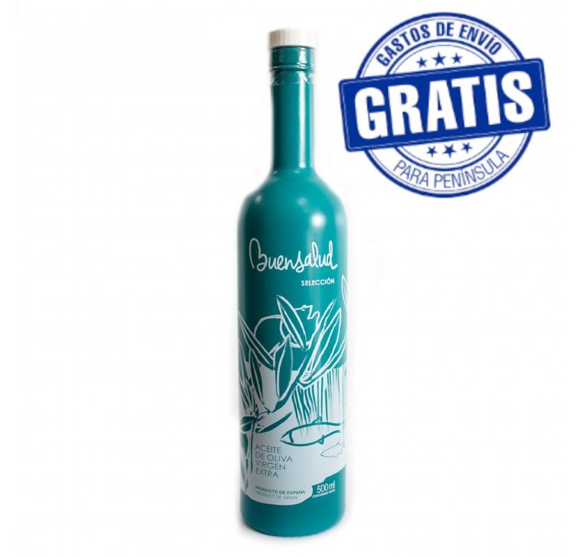 Buensalud Frantoio Selection. Box of 12 bottles of 500 ml.
