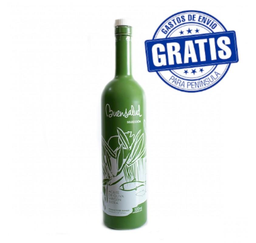 Buensalud Selección Picual. Caja de 12 botellas de 500 ml.