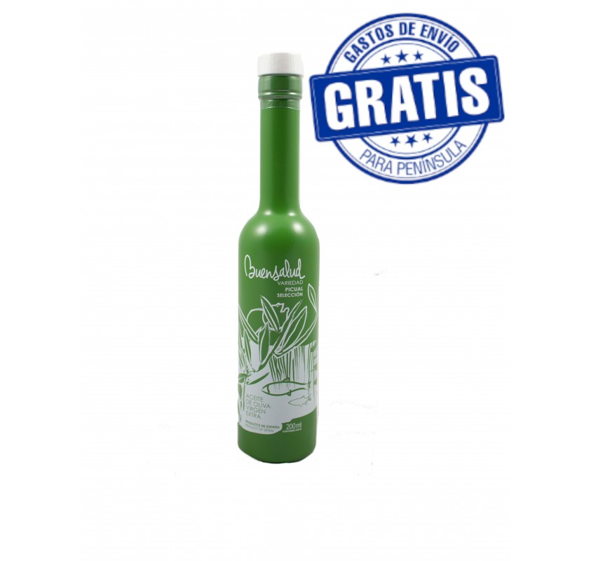 Buensalud Picual Selection. Box of 12 bottles of 200 ml.