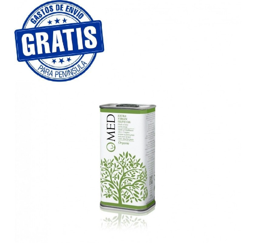 Ecological Omed. Hojiblanca EVOO. Box of 24 cans of 250 ml.