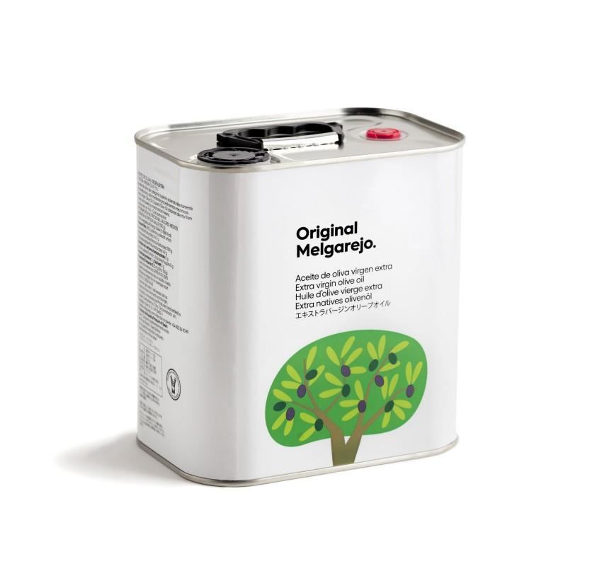 Original Melgarejo. AOVE Picual. Caja de 4 latas de 2,5 litros.