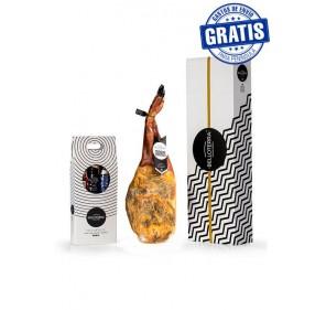 100% Iberian acorn shoulder + Assortment of Iberian sausages. Belloterra.