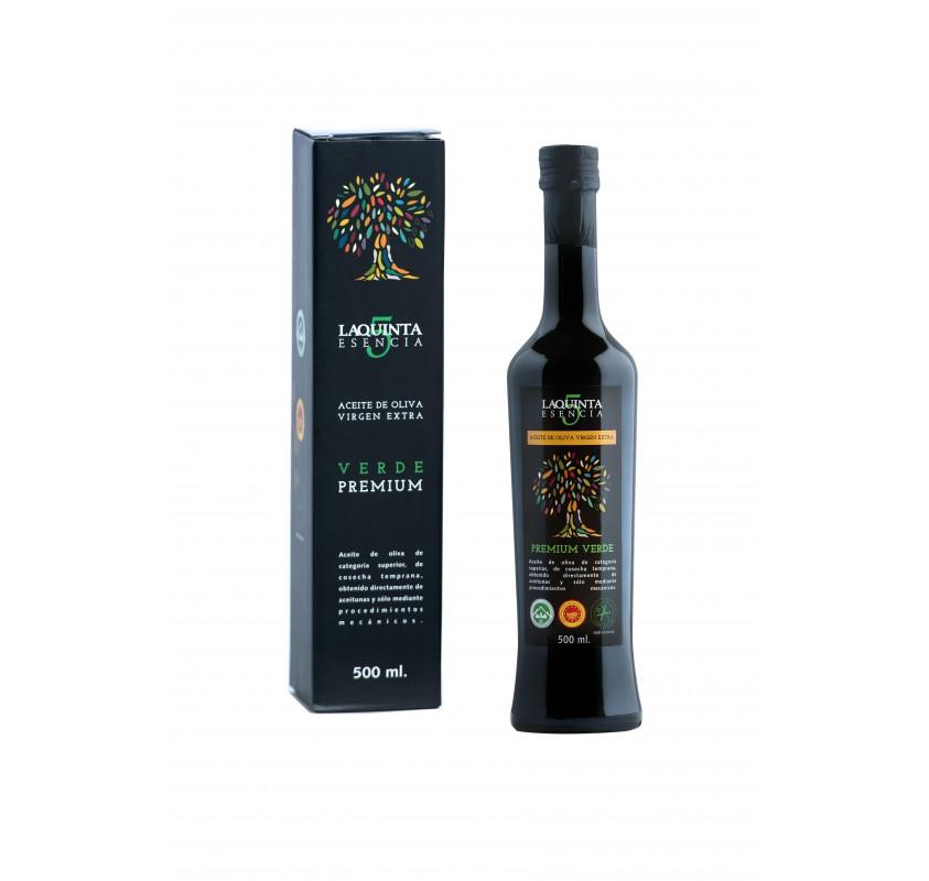 La Quinta Esencia. Case Premium green 500 ml.