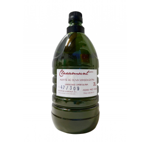 Claramunt. Arbequina EVOO. 2 liter PET bottle.