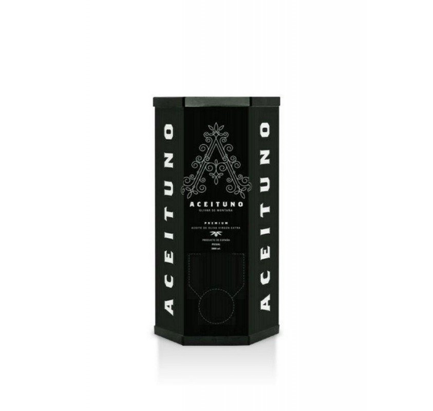 Aceituno EVOO. Box of 2 Bag In Box of 2 liters.