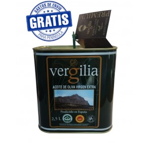 AOVE Vergilia Premium. Caja de 3 latas de 2,5 litros.