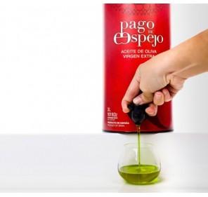 EVOO Pago de espejo. Box of 4 Bag in Tube of 3 liters.