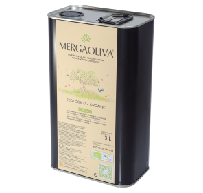 EVOO Mergaoliva Eco. Box of 4 cans of 3 liters.