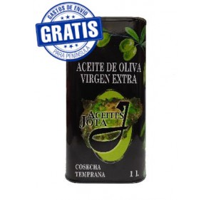 EVOO Aceites Jota. Box of 9 cans of 1 liter.