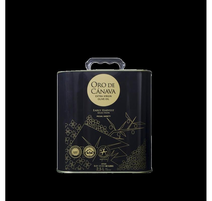 AOVE Oro de Cánava. 2.5 liter can.