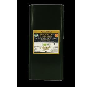Ecological EVOO Señorío de Camarasa. 5 liter can.