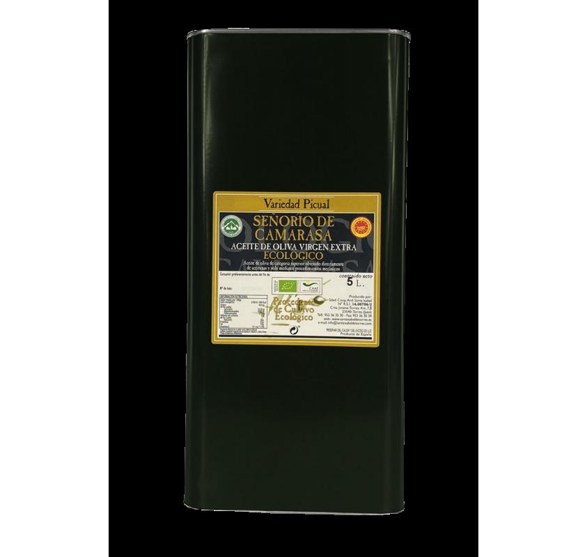 AOVE Ecológico Señorío de Camarasa. Lata de 5 litros.