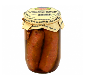 Wild boar sausage in extra virgin olive oil. 8 x 530 gr.