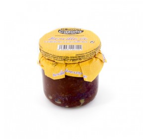 Black pudding with pine nuts. 320 gr jar.