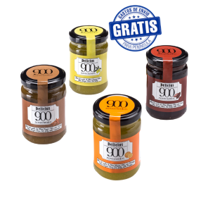 Delicius 900 jellies. Box of 12 jars of 140 gr.