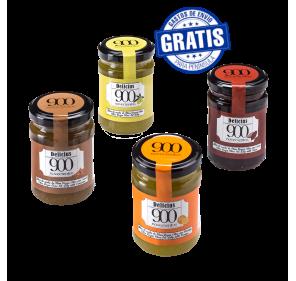 Delicius 900 jellies. Box of 12 jars of 140 gr.