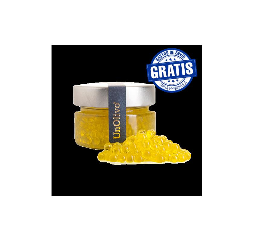 Olive Spherifications. UnOlivo.50 gr jar. Box of 15 jars.