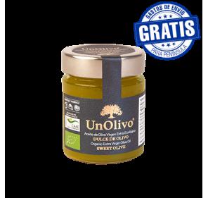 Dulce de olivo UnOlivo. Tarro 150 gr. Caja de 15 unidades.