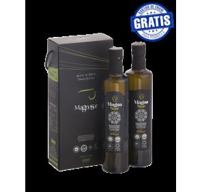 EVOO Magnasur. 5 Cases of 2 Doric bottles of 500 ml.