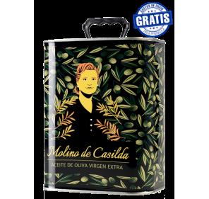 AOVE Molino de Casilda. Caja de 4 latas de 3 litros.