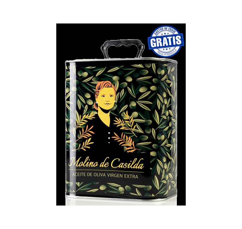 EVOO Molino de Casilda. Box of 4 cans of 3 liters.