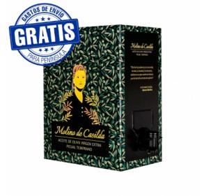 EVOO Molino de Casilda. Box of 3 Bag in Box of 5 liters.