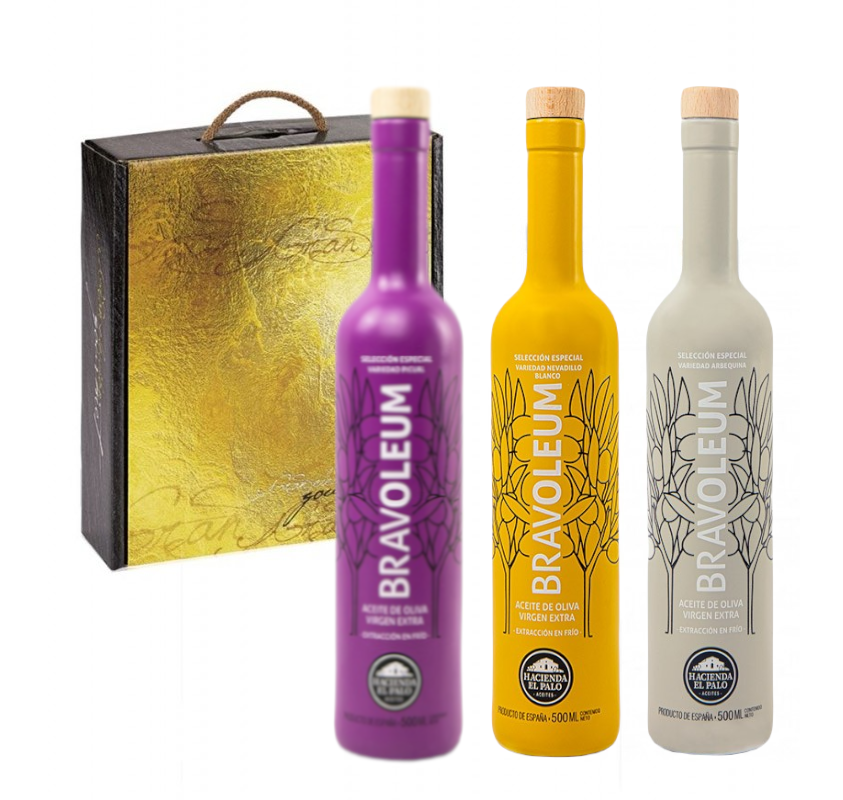Bravoleum. Estuche regalo 3 botellas. 500 ml