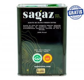 AOVE Sagaz. Caja de 3 latas de 3 litros.