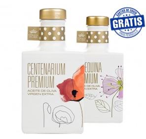 Nobleza del Sur, Centenarium premium + Arbequina premium. Box of 6 + 6 units x 350 ml.