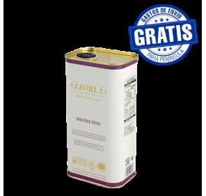 Cazorla. Aceite de oliva royal. Caja de 15 latas de 1 litro.