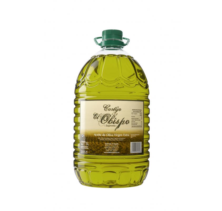 Extra virgin olive oil. Cortijo el obispo. 5 Liters